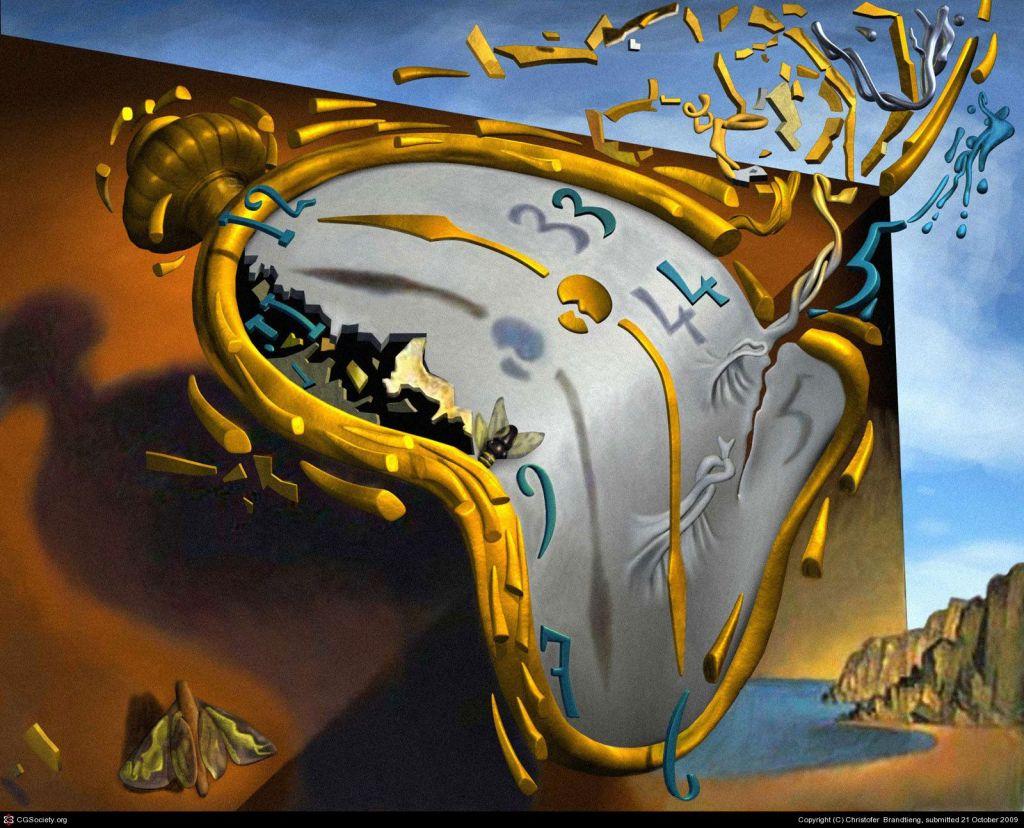 pictura lui Salvador Dali Melting watch sau ceasul care se scurge